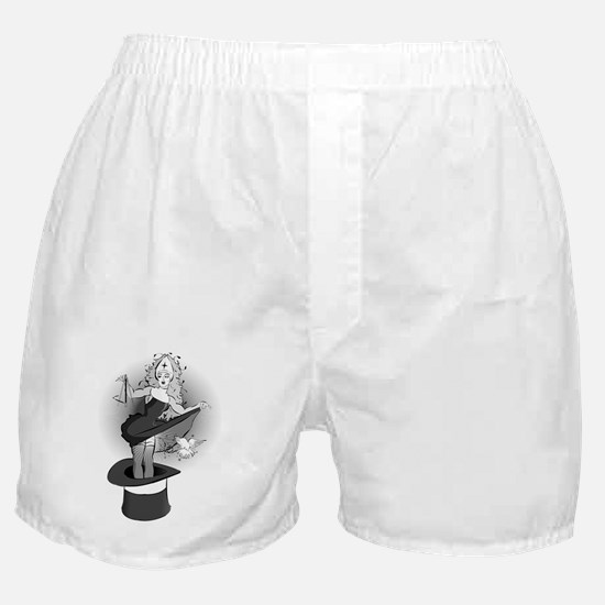 png no words b and w Boxer Shorts