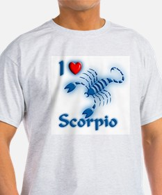 I Love Scorpio Ash Grey T-Shirt