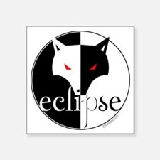 "Eclipse Lone Wolf by Twibab Square Sticker 3"" x 3"""
