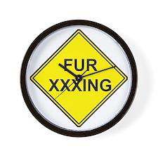 Fur XXXing Wall Clock