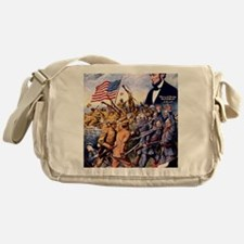 WW I recruiting USA blackww1 Messenger Bag