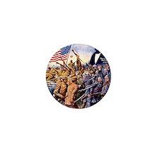 WW I recruiting USA blackww1 Mini Button