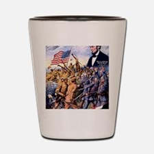 WW I recruiting USA blackww1 Shot Glass