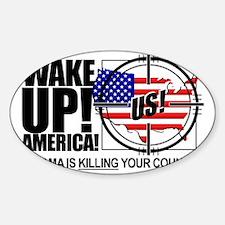 2012-wake-up-america-obamas-katrina Decal