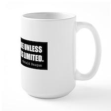 Reagan-Quote-(limited-govt)-black Mug