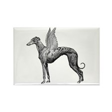 Pegasus Greyhound Rectangle Magnet