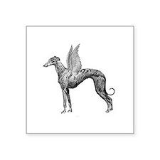 "Pegasus Greyhound Square Sticker 3"" x 3"""