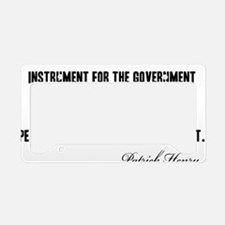 Patrick-Henry-(govt)-white-sh License Plate Holder