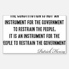 Patrick-Henry-(govt)-white-shi Decal