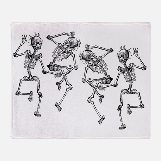 skeletons dancing Throw Blanket