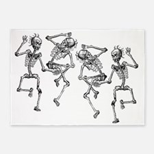 skeletons dancing 5'x7'Area Rug