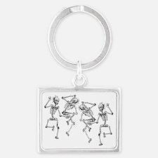 skeletons dancing Landscape Keychain