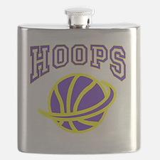 HOOPS purple and yellow Flask