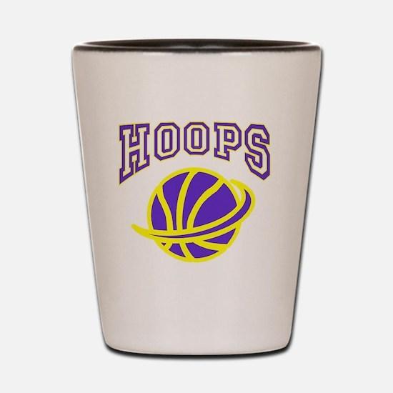 HOOPS purple and yellow Shot Glass