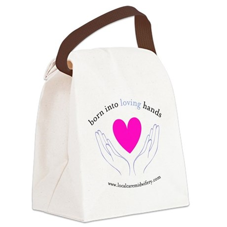 LCM_loving_hands Canvas Lunch Bag