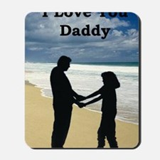 2-father and daughter on beach Mousepad