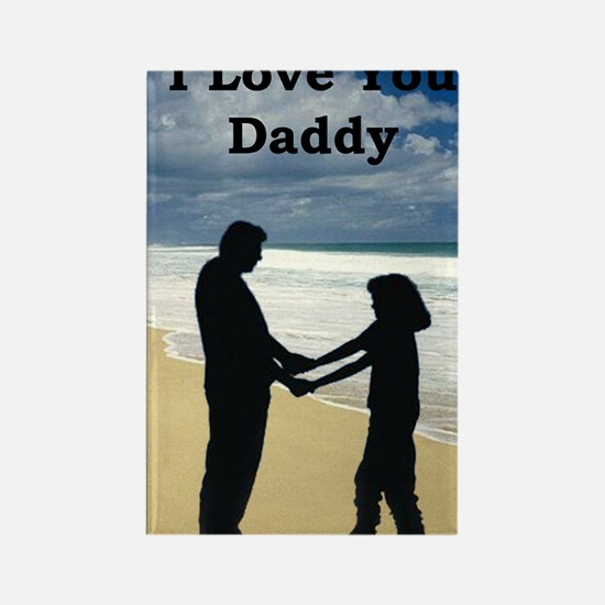 2-father and daughter on beach Rectangle Magnet