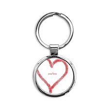 one love Round Keychain