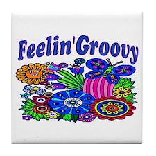 FEELIN' GROOVY Tile Coaster