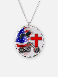 BIKER FLAG 3 Necklace