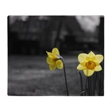 selective colour daffs Throw Blanket