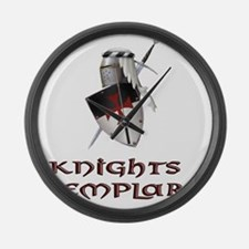 KNIGHTS TEMPLAr copy Large Wall Clock