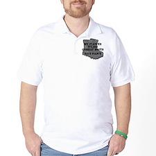 Navy Fiance Combat Boots T-Shirt