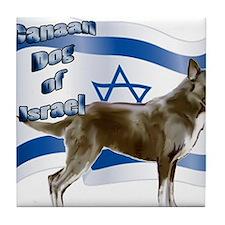 Canaan dog of Israel Tile Coaster