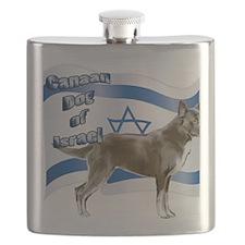 Canaan dog of Israel Flask