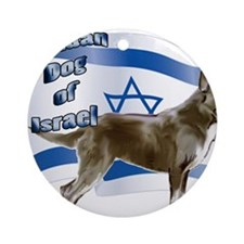 Canaan dog of Israel Round Ornament