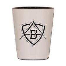auto-autobianchi-emblem-bw Shot Glass