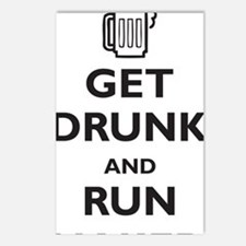 get-drunk-and-run-naked Postcards (Package of 8)