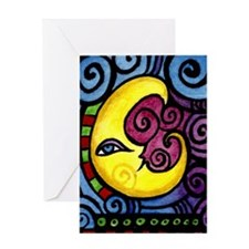 Swirly_Moon_12inch Greeting Card