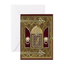 Medieval Wedding book Greeting Card