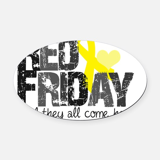 redfriday5 Oval Car Magnet