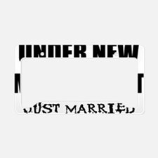 2-just-married License Plate Holder