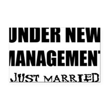 2-just-married Rectangle Car Magnet