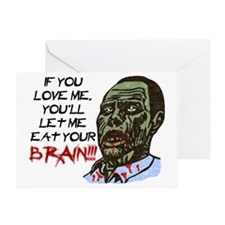 Eat Your Brain Greeting Card