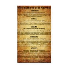 The 5 Rules of Good Writing! Rectangle Car Magnet