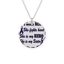 She is Sister Blue Hero Necklace