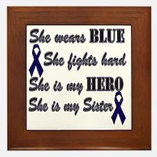 She is Sister Blue Hero Framed Tile