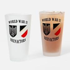 WWII german ovalsticker2 Drinking Glass