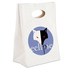 eclipse 2 sided violet copy Canvas Lunch Tote