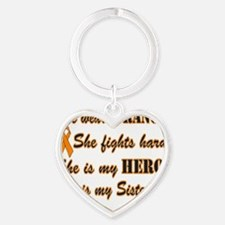 She is Sister Orange Hero Heart Keychain