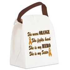 She is Sister Orange Hero Canvas Lunch Bag