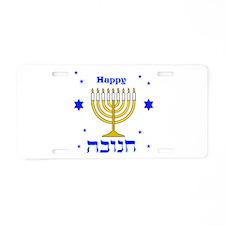 Happy Hanukkah Aluminum License Plate