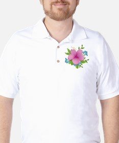 Tropical hybiscus Golf Shirt