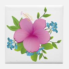 Tropical hybiscus Tile Coaster