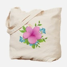 Tropical hybiscus Tote Bag