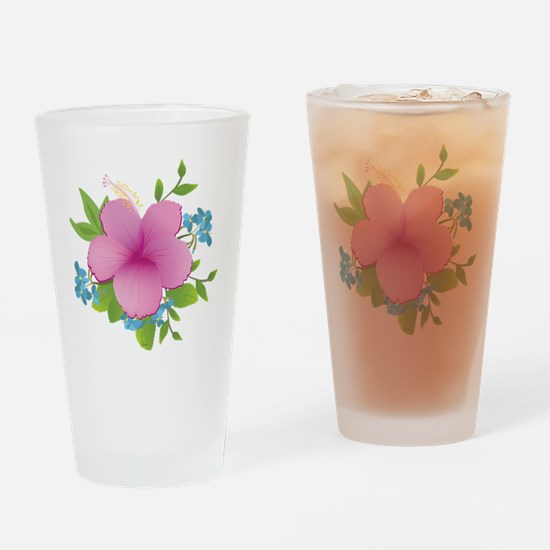 Tropical hybiscus Drinking Glass